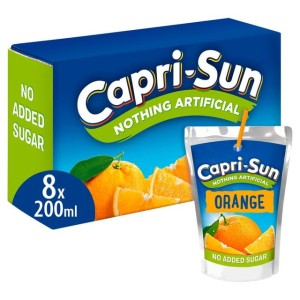 Capri-Sun No Added Sugar Orange 8 x 200ml