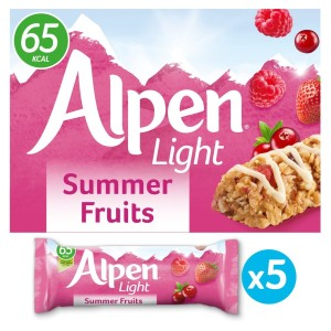 Alpen Light Cereal Bars Summer Fruits 5x19g