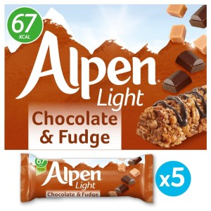 Alpen Light Chocolate & Fudge Bars 5 x 19g