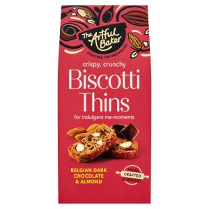 The Artful Baker Belgian Dark Chocolate & Almond Thins 100g
