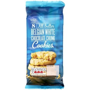 M&S 10 All Butter Belgian White Chocolate Chunk Cookies 225g