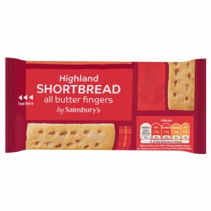 Sainsbury's Highland All Butter Shortbread Finger Biscuits 200g