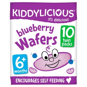 Kiddylicious Blueberry Wafers ,6months+, Multipack 10 x 4g