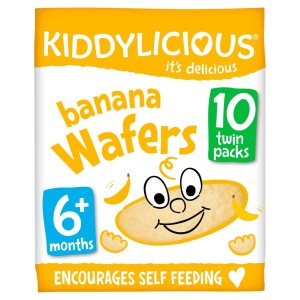 Kiddylicious Banana Wafers, 6months+, Multipack 10 x 4g