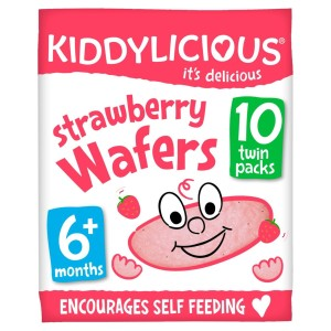 Kiddylicious  Strawberry Wafers 6months+ Multipack 10 x 4g