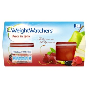 Weight Watchers Diced Pear in Juicy Berry Jelly 4 x 120g