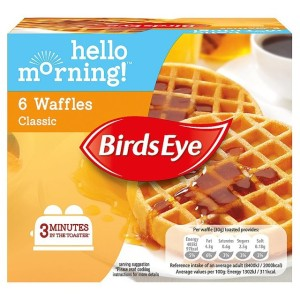 Birds Eye 6 Breakfast Waffles Frozen 180g