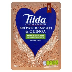 Tilda Steamed Wholegrain Brown Basmati Rice & Quinoa Gluten Free 250g