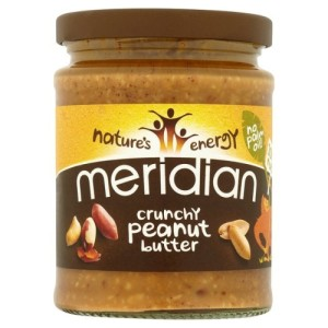 Meridian Natural Crunchy Peanut Butter - No Added Sugar and Salt 280g