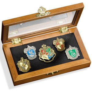 Harry Potter Hogwarts House Pin - Five Pins in Display Case