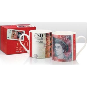 50 Pounds Fine Bone China Boxed Mug, 10 cm