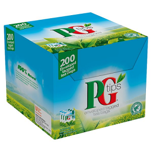 PG Tips 200 Enveloped Tagged Tea Bags