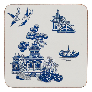 Blue Willow Coasters - Set of 4