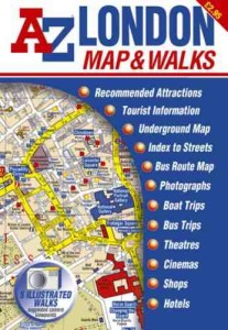 AZ London Map & Walks (Street Maps & Atlases) [Folded Map, Illustrated