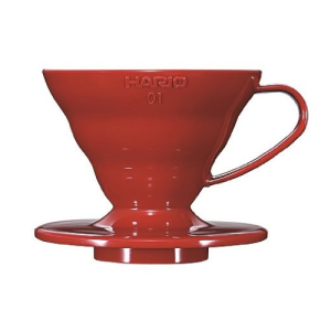 Hario 1-Piece Plastic Coffee Dripper, Red