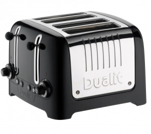 Dualit 46202 4 Slot Lite Toaster in Black Finish