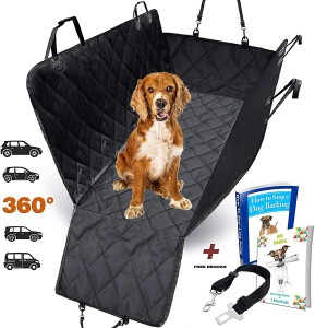 Washable  Universal Dog Car Back Seat Cover 3-in-1 Car Seat Protector