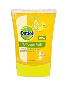 Dettol No Touch Refill Anti-Bacterial Hand Wash Odour Neutralising Fresh Citrus Squeeze 250ml
