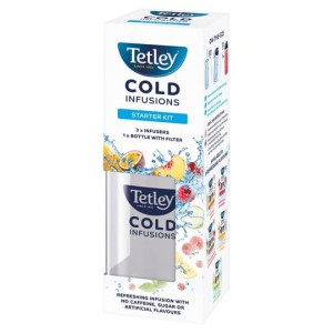 Tetley Cold Brew  Bottle & 3 x Herbal & Fruit Infusions Starter Kit