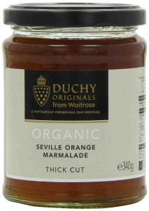 Duchy Originals Organic Seville Thick Cut Orange Marmalade 340g