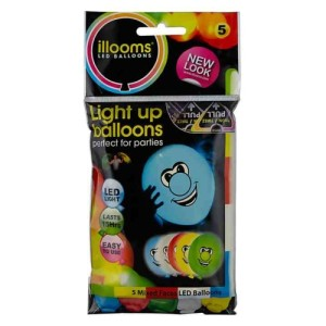 Illoom LED Balloons - Faces, Pack of 5