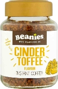 Beanies Cinder Toffee Instant Falvour Coffee 50g