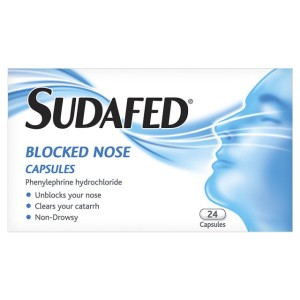 Sudafed Blocked Nose Capsules 24 per pack