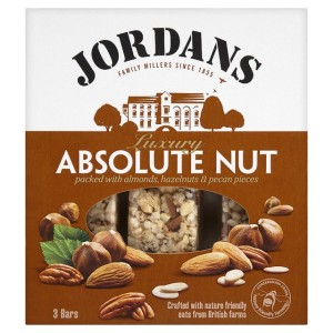 Jordans Luxury Bar Absolute Nut 3 x 45g