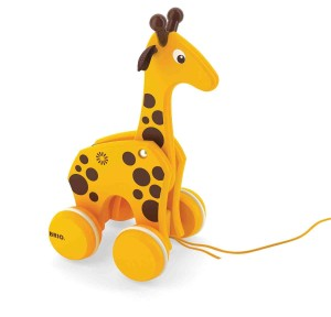 BRIO Pull Along Wooden Giraffe Toy