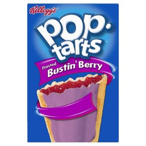 Kellogg's Pop Tarts Frosted Bustin' Berry 8 Toaster Pastries 8x50g