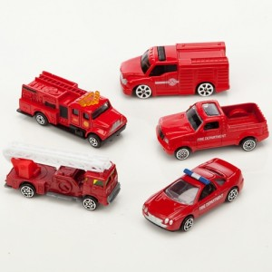 John Lewis Fire Vehicles, Pack of 5