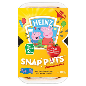 Heinz Peppa Pig Pasta in Tomato Sauce Snap Pots 2 x 190g