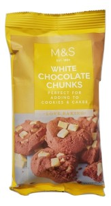 Marks & Spencer Love Baking White Chocolate Chunks 100g