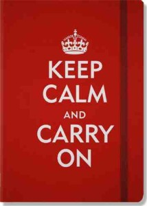 Keep Calm And Carry On Journal appx A5 size