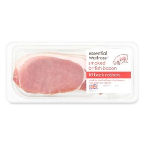 10 Smoked British Bacon Back Rashers essential Waitrose 300g