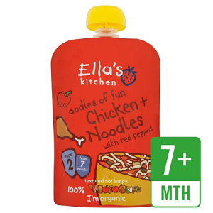 Ella's Kitchen Oodles of Fun Chicken & Noodles with Red Peppers 130g