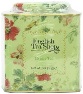 English Tea Shop Green Tea Floral Tin Leaf Tea 85g