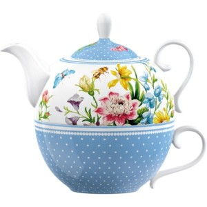 Katie Alice English Garden Porcelain Tea for One Teapot and Cup