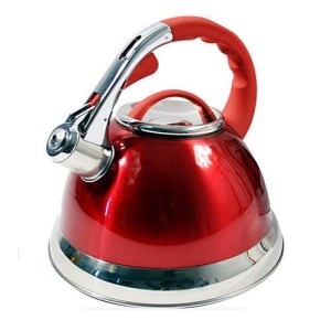 3.5 Litre Prima Whistling Stove Top Kettle - Red