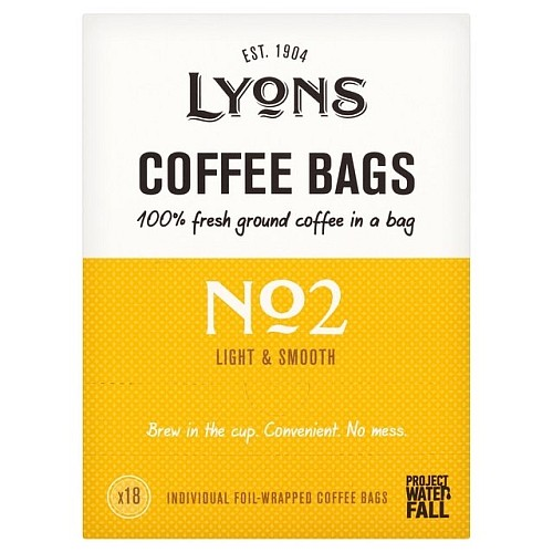 Lyons No2 Light & Smooth Coffee Bags 18 per pack.jpg