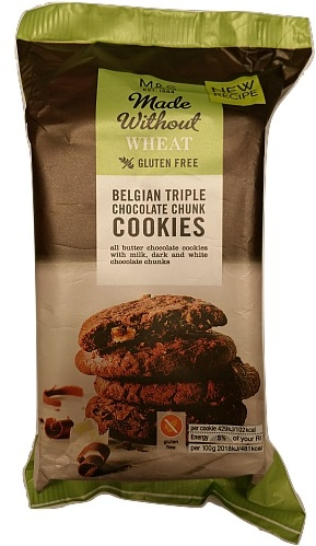 Marks & Spencer Gluten Free Belgian Triple Choc Chunk Cookies 170g 3_burned.jpg